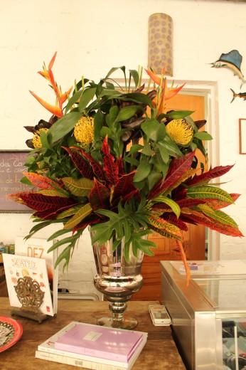 arranjo floral para o restaurante Carlota